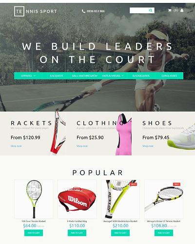 Website Thời trang quần vợt