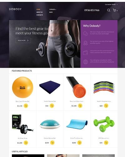 Website Dụng cụ tập Gym