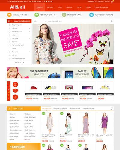 Website Siêu thị thời trang và công nghệ