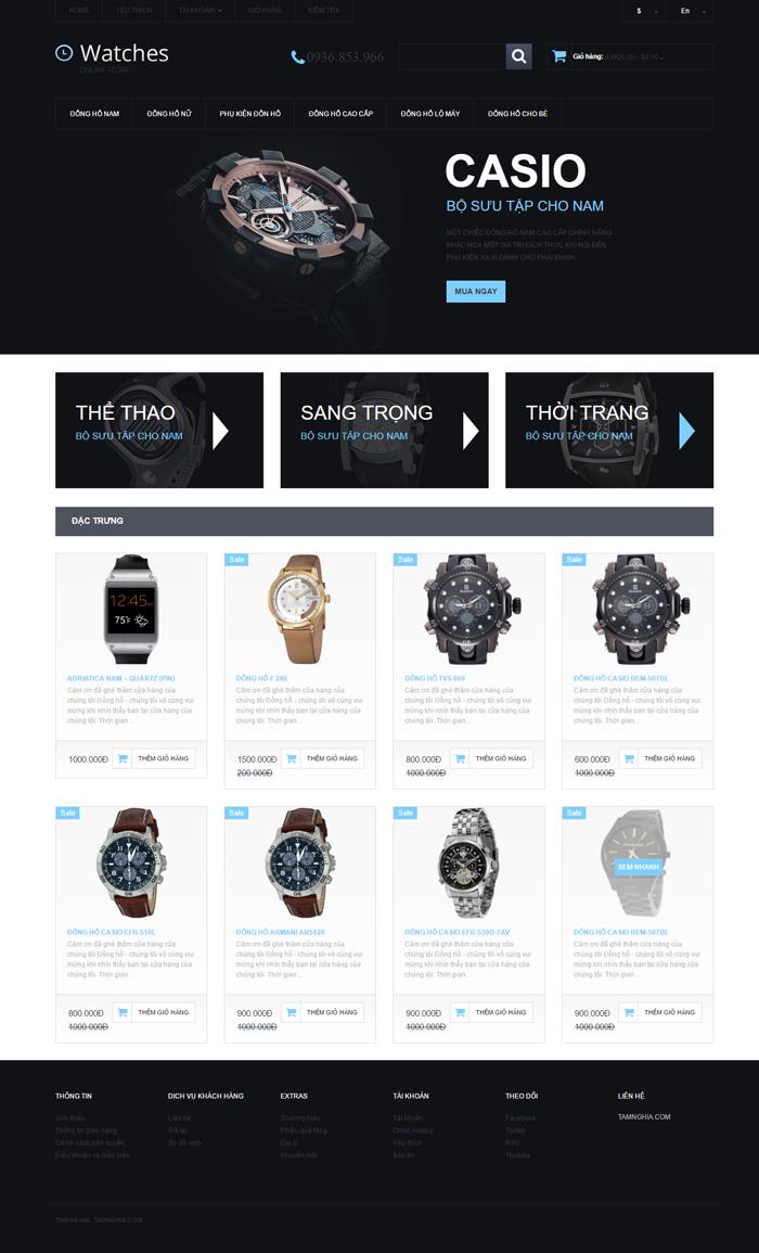 Website  Đồng hồ cao cấp và phong cách