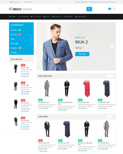 Website  Quần áo thời trang , phong cách cho Nam