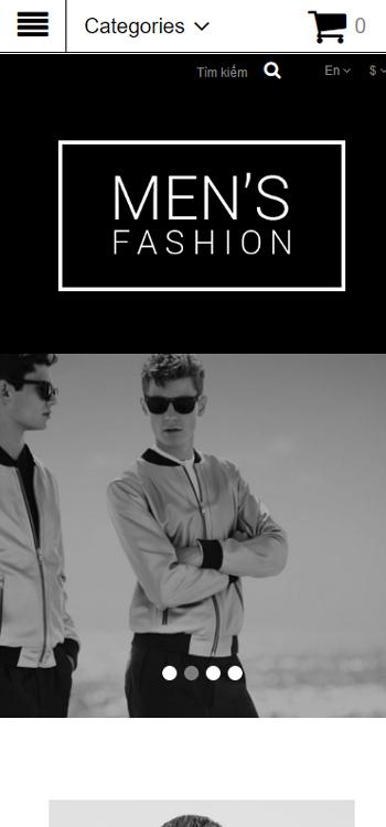 Website Quần áo cho các quý ông