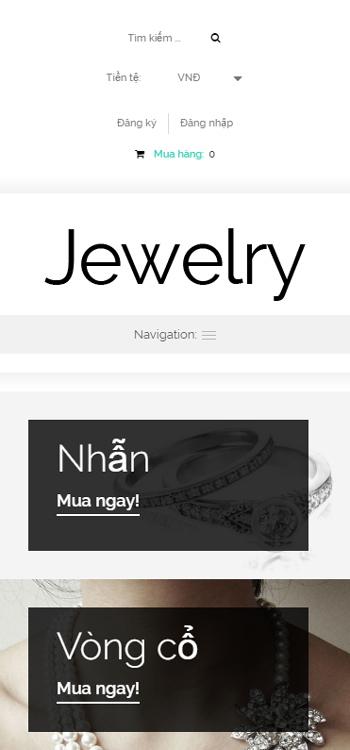 Website Trang sức dành cho phái đẹp