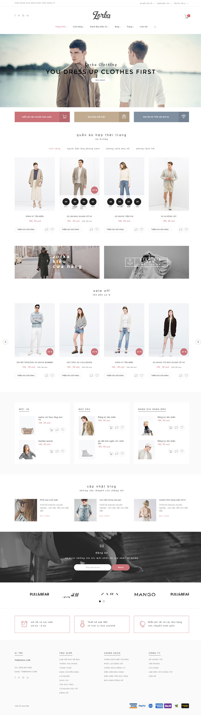 Website Thời trang thanh lịch