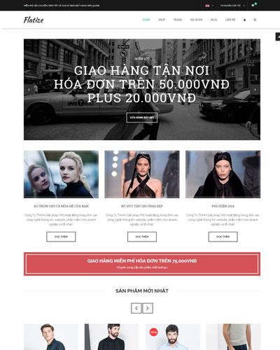 Website  Quần áo phong cách trẻ trung
