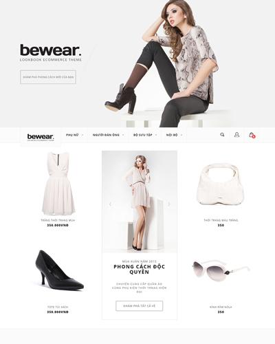 Website Quần áo, phụ kiện dành cho phái đẹp