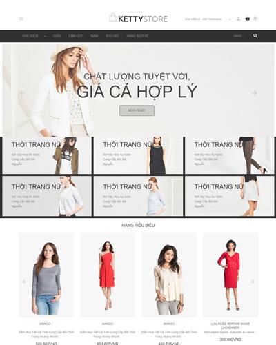 Website Shop quần áo công sở và dạo phố