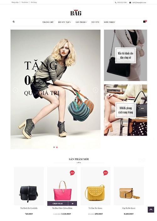 Website Túi xách dành cho công sở