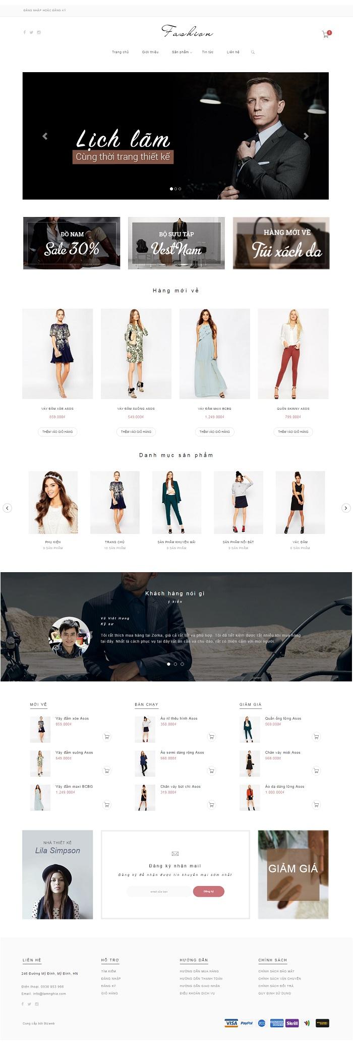 Website thời trang dự tiệc