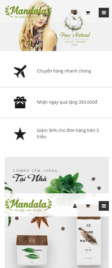 Website Đồ trang sức , nước hoa ngoại