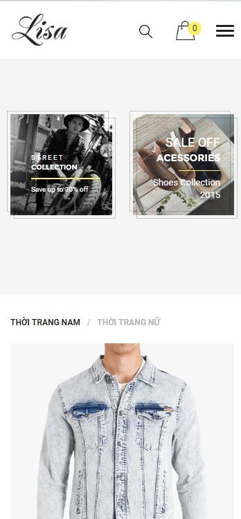 Website Quần áo dành cho phái mạnh