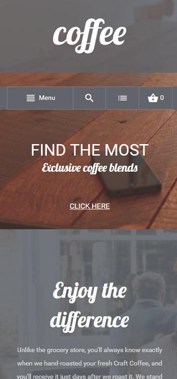 Website Nhà hàng phục vụ coffee