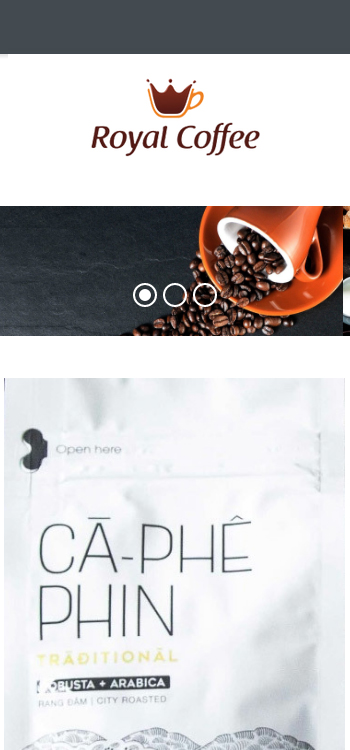 Website Cà phê nguyên chất