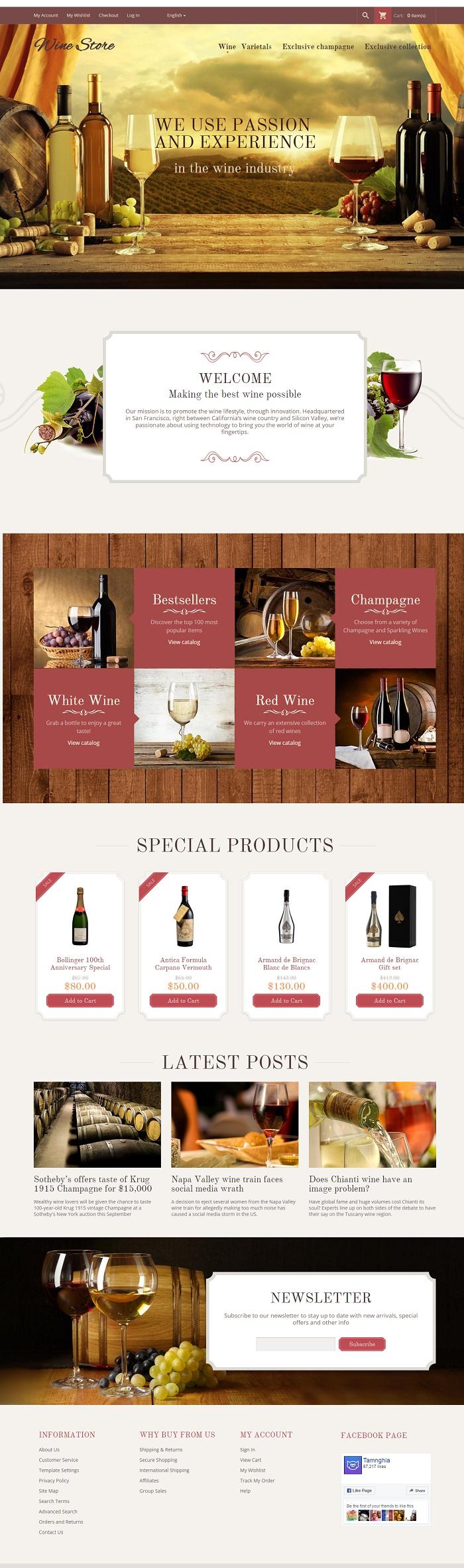 Website Rượu vang thượng hạng