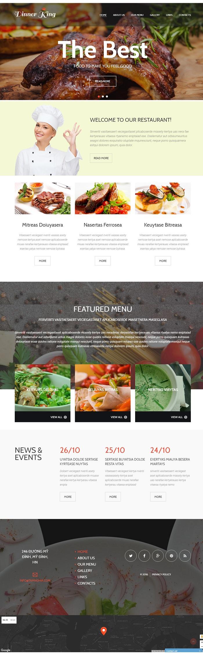 Website Nhà hàng thịt nướng