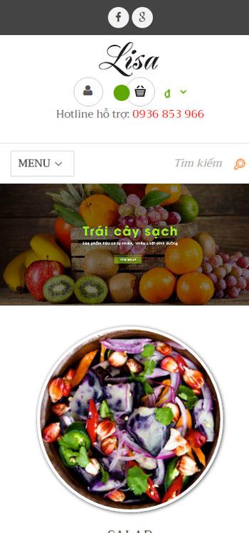 Website Rau củ quả tươi ngon tốt cho sức khỏe