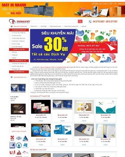 Mẫu website về Dịch vụ văn phòng