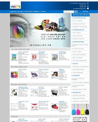 Mẫu website về Thương mại điện tử