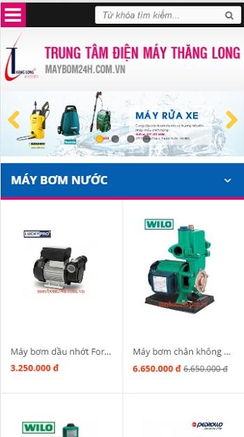 Mẫu website về Điện Máy