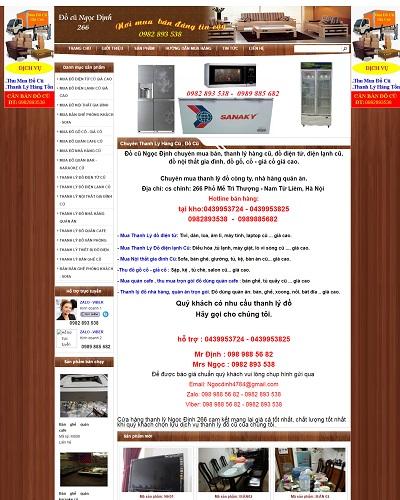 Mẫu website về Buôn bán đồ cũ