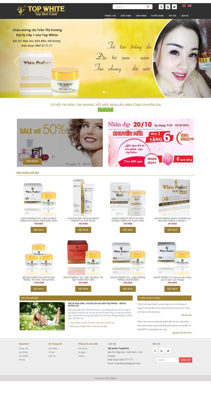 Website Cung cấp mỹ phẩm