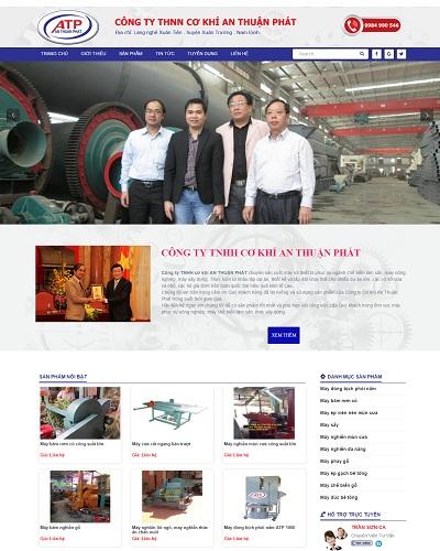 Mẫu website về Doanh nghiệp cung cấp đồ cơ khí