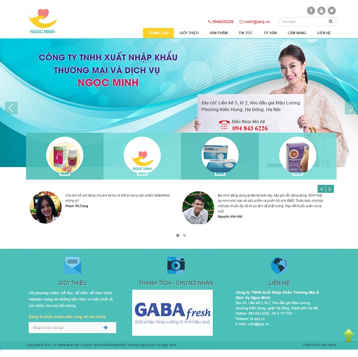Mẫu website về Dịch Vụ