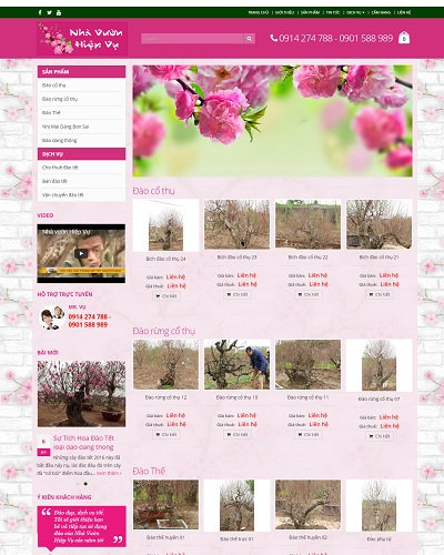 Mẫu website về Nhà Vườn Hiệp Vụ