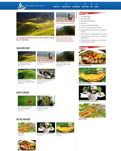 Mẫu website về Phượt Vùng Cao