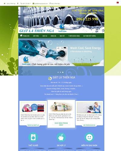 Website Dịch vụ giặt