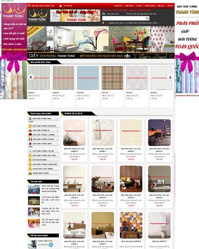 Mẫu website về bán giấy dán tường
