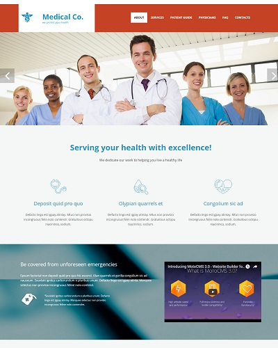 Website Dịch vụ y tế